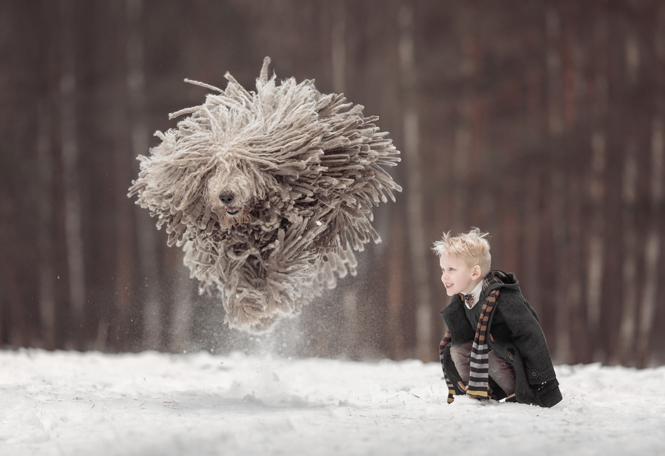 My trained mop, © Andy Seliverstoff, Russia, Children photo Nomination, 1 place, 35AWARDS Photo Contest