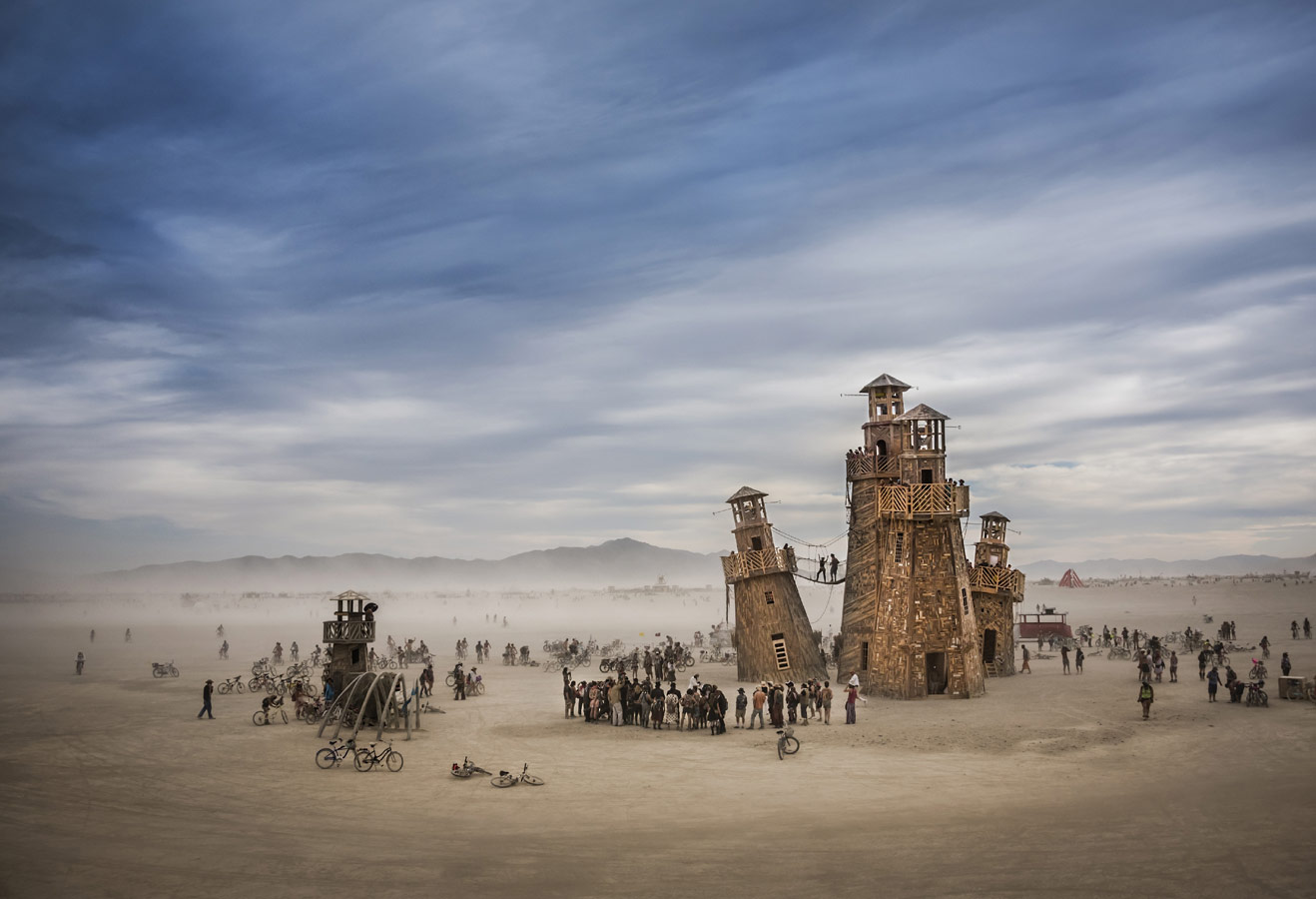 Photographer: Tom Stahl, Project: Black Rock Lighthouse Service in the Nevada desert, USA, Architectural Photography Awards