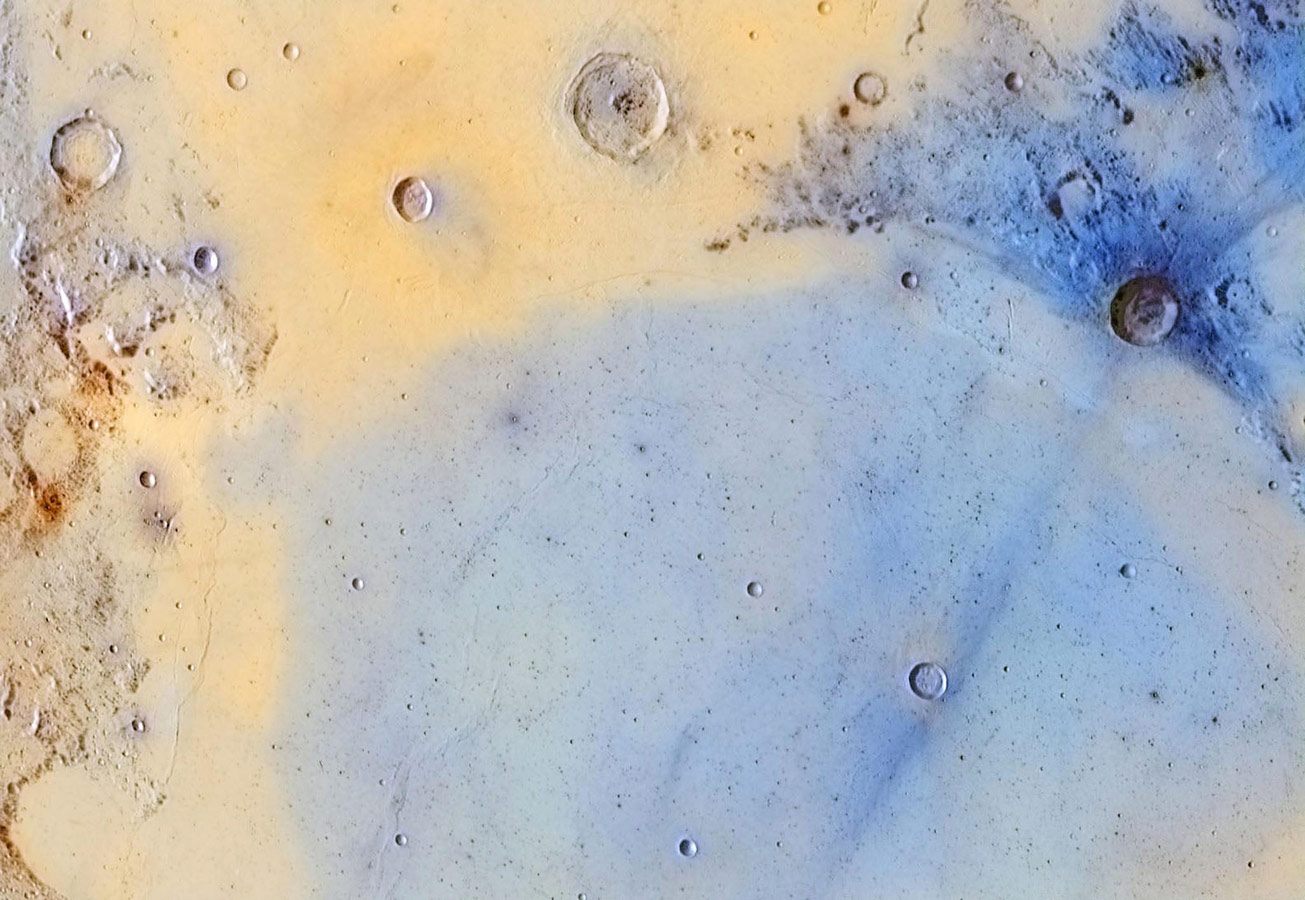 Inverted colors of the boundary between Mare Serenitatis and Mare Tranquilitatis, © Jordi Delpeix Borrell, Our Moon Winner, Astronomy Photographer of the Year