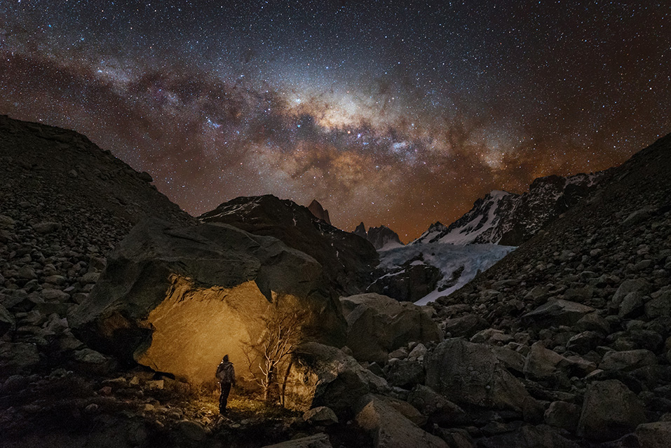 Wanderer in Patagonia, © Yuri Zvezdny, Russia, Winner in category People and Space, Astronomy Photographer of the Year 2017 Winner