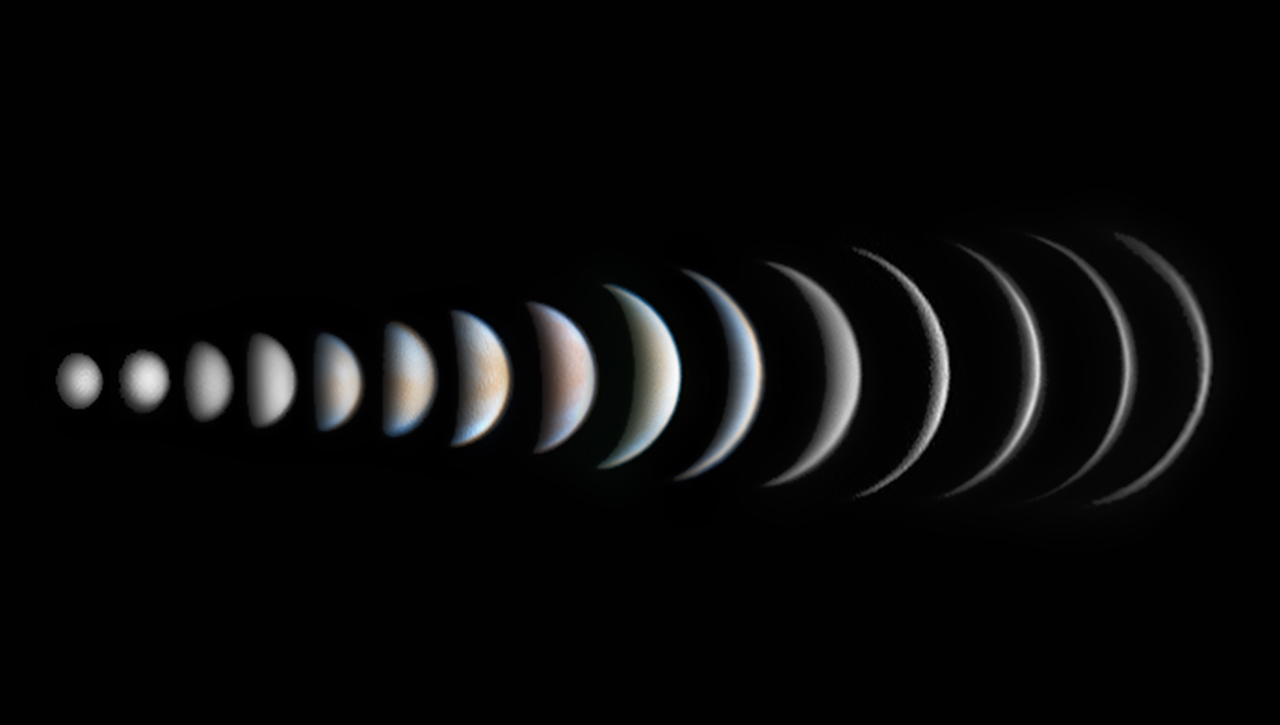 Venus Phase Evolution, © Roger Hutchinson, UK, Winner in category Planets, Comets and Asteroids, Astronomy Photographer of the Year 2017 Winner
