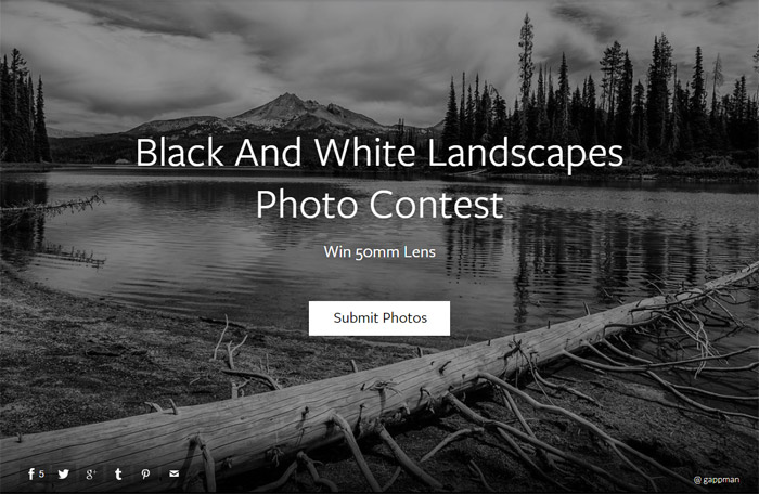 Black And White Landscapes Photo Contest