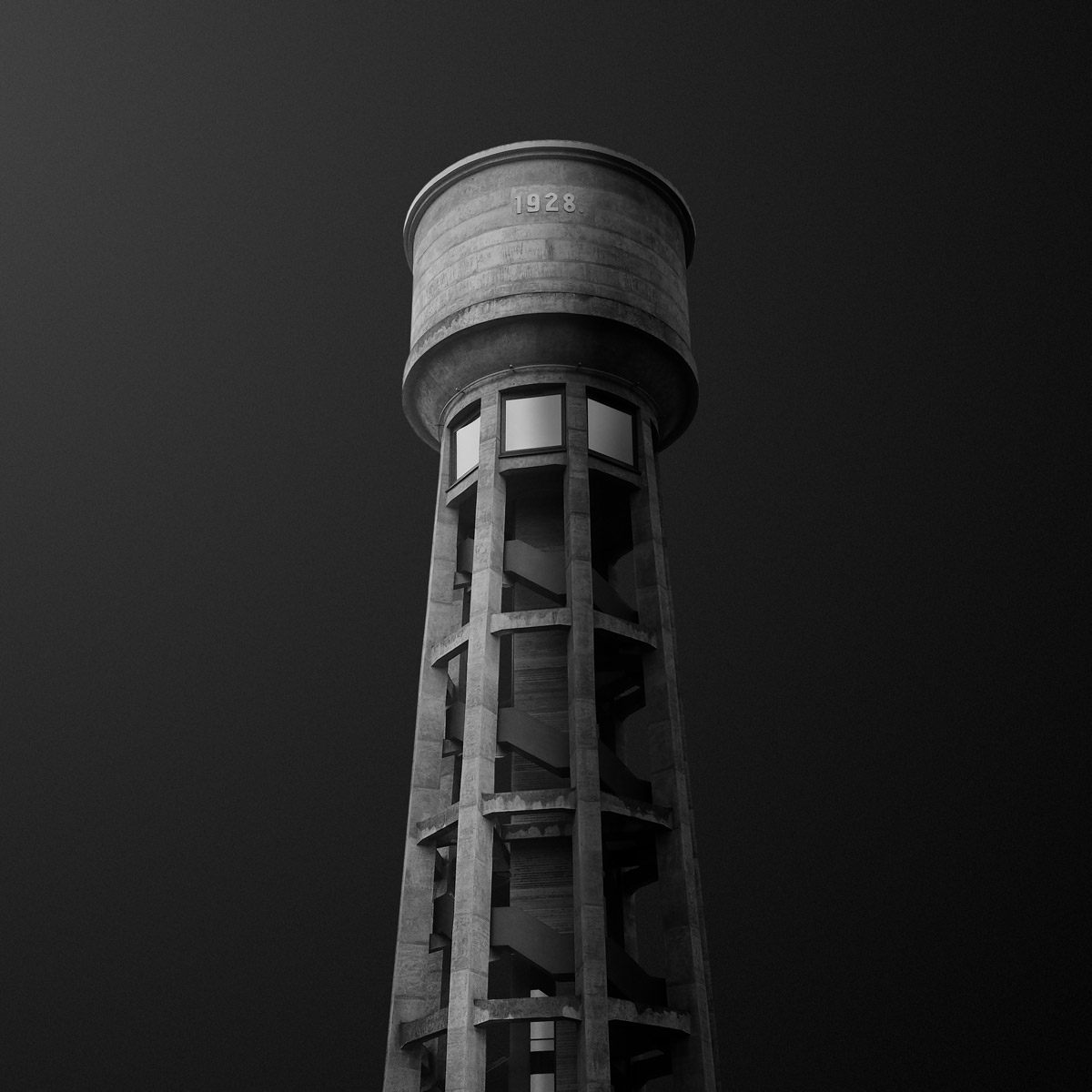 Water Towers Of Luxembourg, © Gediminas Karbauskis, Luxembourg, Second Place, Black & White Photography Awards - Dodho Magazine