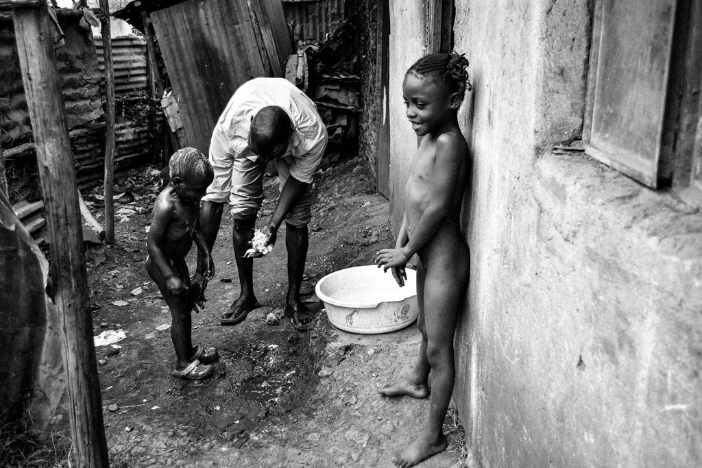 Bath, © Marcel Kolacek, Czech Republic, 3rd Place, B&W Child Photo Contest