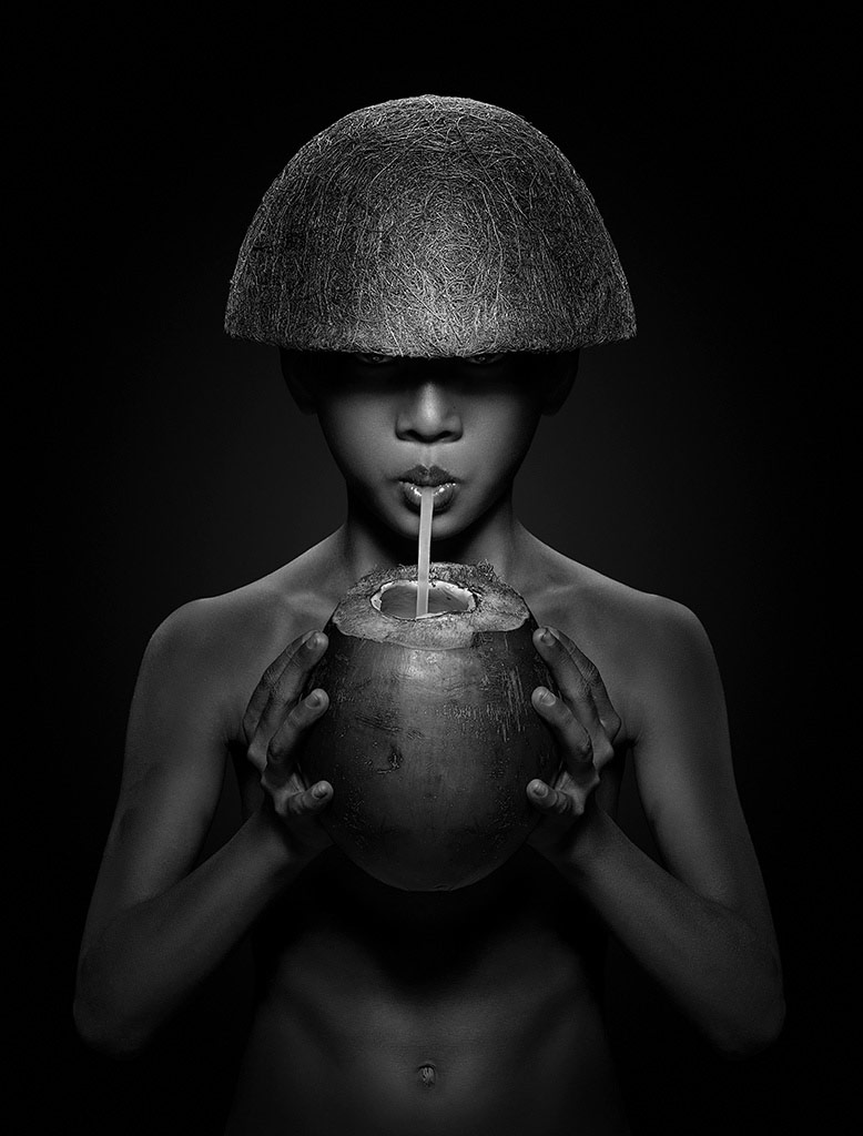 Like Toy Soldier, © Erich Caparas, USA, 2nd Place, B&W Child Photo Contest