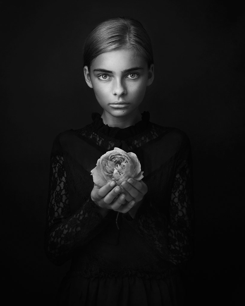 Hope, © Lisa Visser, UK, 3rd Place, B&W Child Photo Contest