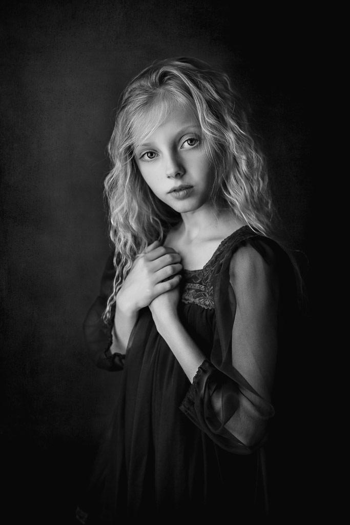 Sanna, © Eva Miehe, Austria, B&W Child Photo Contest