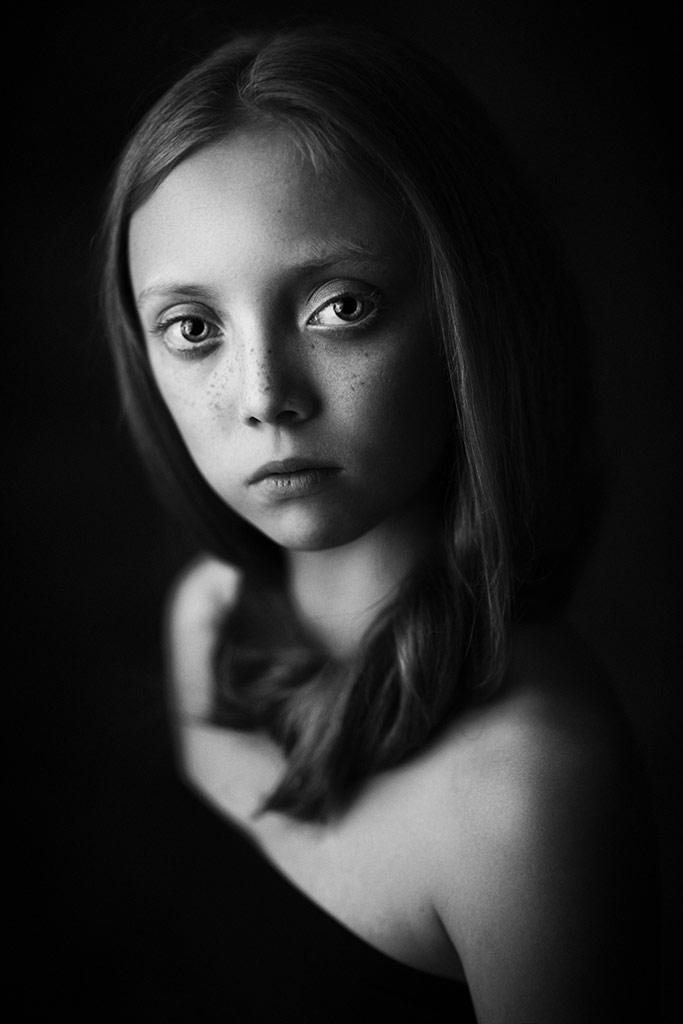 Michasia, © Roza Sampolinska, USA, B&W Child Photo Contest