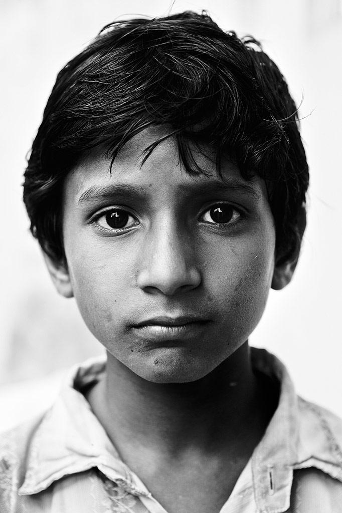 Children From Medaram Tribal Village 4, © Luigi Storto, Italy, B&W Child Photo Contest