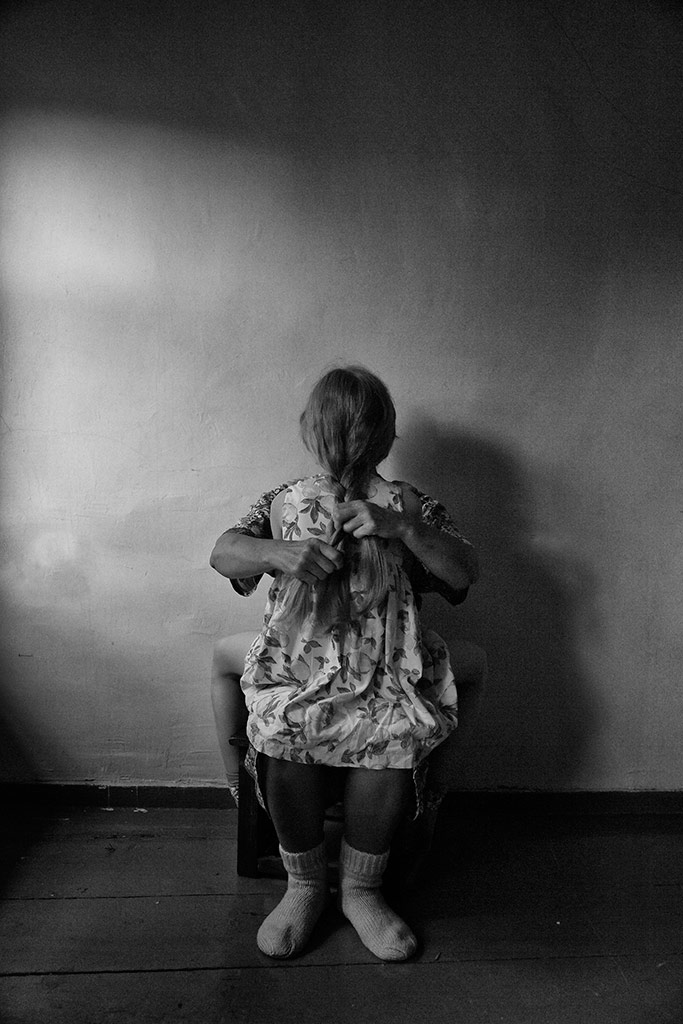 Grandmother's Hands, © Natalia Matafonova, Russia, 1st Place, B&W Child Photo Contest