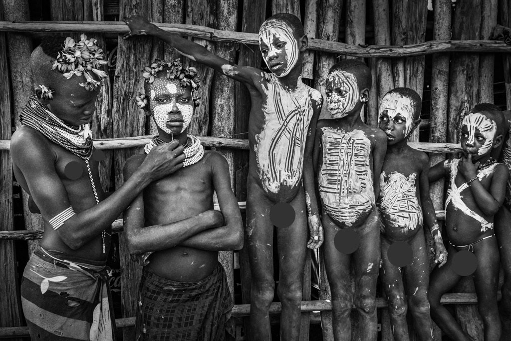 Tribe Children, © Guoxiang Sun, China, 2nd Place, B&W Child Photo Contest