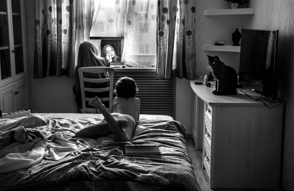 Weekdays, © Elena Rusinova, Russia, 1st Place, B&W Child Photo Competition