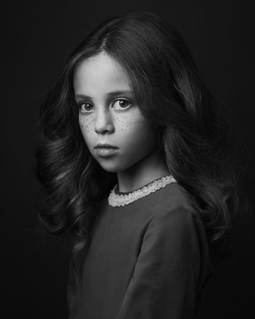 Aliyah, © Lisa Visser, UK, Honorable Mention in the Portrait Category, 2nd Half, B&W Child Photo Contest