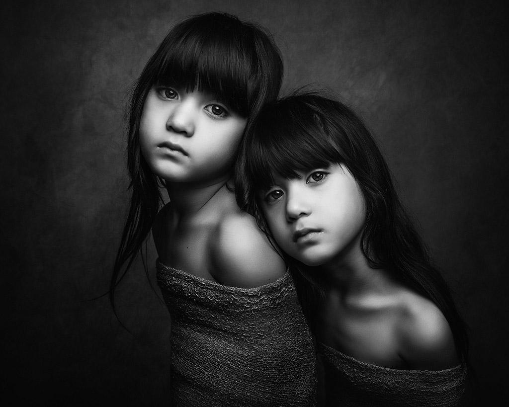 Me&Me, © Paulina Duczman, UK, Honorable Mention in The Portrait Category – First Half, B&W Child Photo Competition