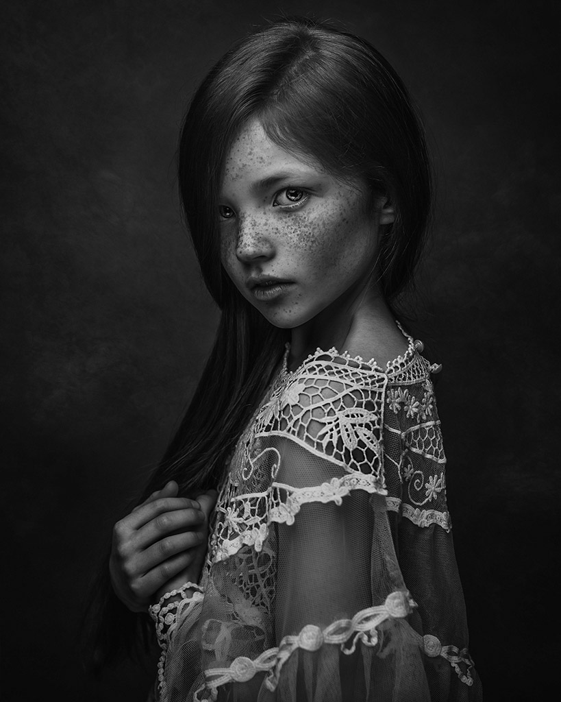 Esme, © Paulina Duczman, UK, Honorable Mention in The Portrait Category – First Half, B&W Child Photo Competition