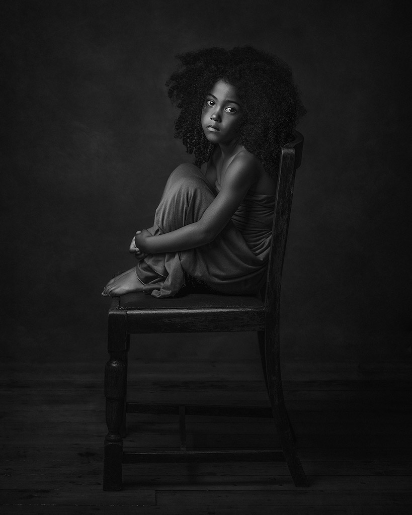 Savannah, © Paulina Duzcman, UK, Nominee in The Fine Art Category – First Half, B&W Child Photo Competition