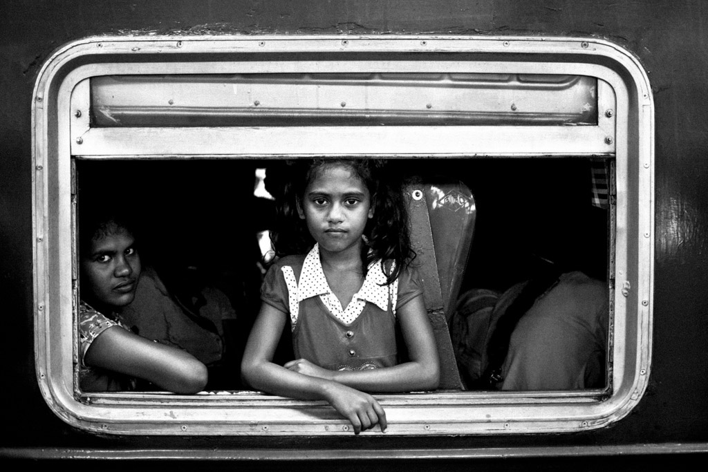Train Girl, © Marcel Kolacek, Czech Republic, 1st Place, B&W Child Photo Competition