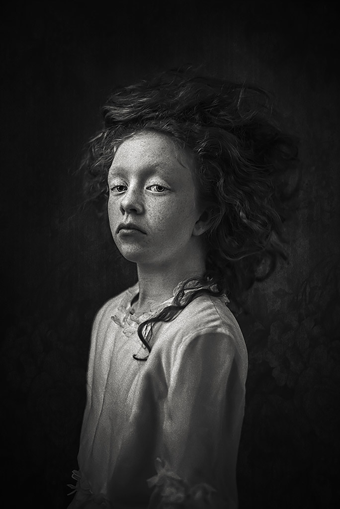 Fleur, © Ewa Cwikla, Netherlands, 3rd Place, B&W Child Photo Competition