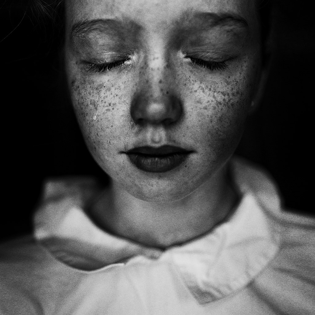 Tear, © Uliana Kharinova, Russia, 3rd Place, B&W Child Photo Competition