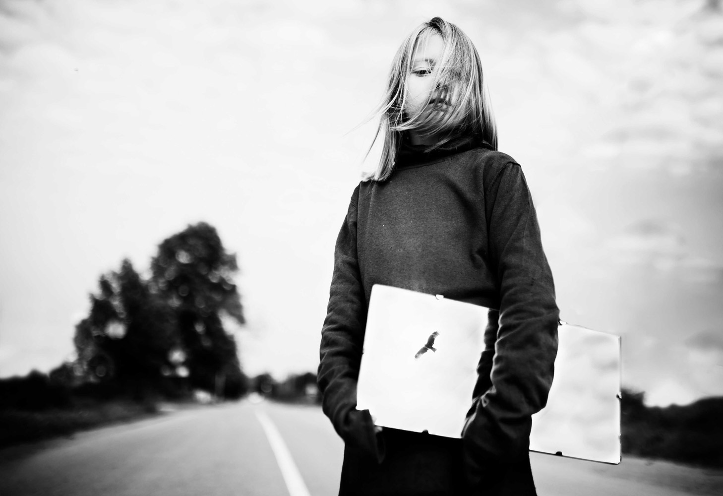 Fly, © Olga Fedorova, Russia, 2nd Place, B&W Child Photo Competition