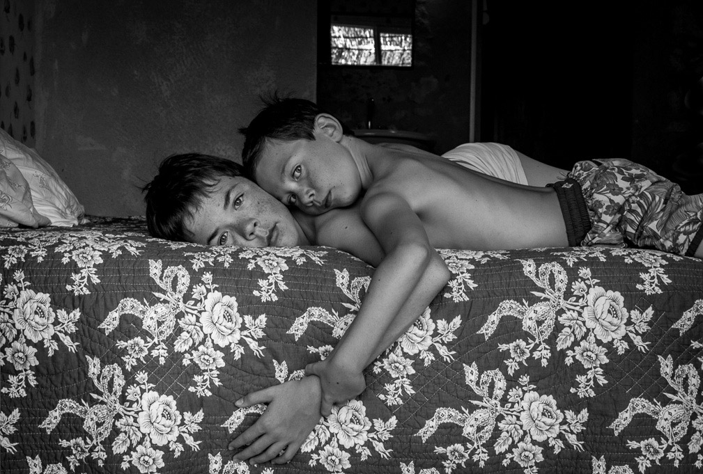 Brotherhood, © Isa Bekaert, Belgium, 2nd Place, B&W Child Photo Competition