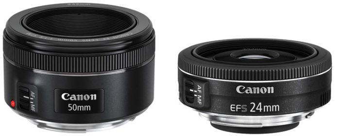 Canon EF 50mm f/1.8 STM Lens, Canon EF-S 24mm f/2.8 STM Lens