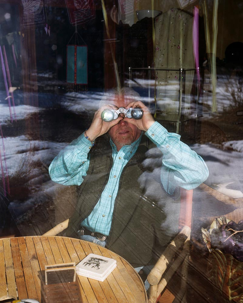 """My Father and His Binoculars"". Project: Midwest Sentimental, © Nathaniel Grann, Los Angeles, CA, Center — Review Santa Fe 2017"