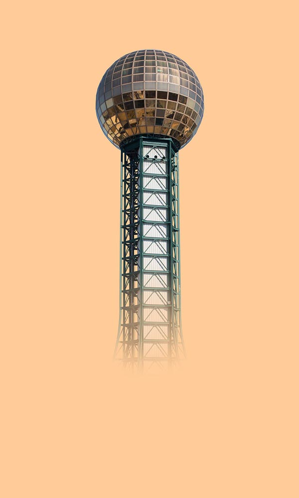 """Sunsphere, Knoxville"". Project: Sunbelt, © Peter Killeen, Los Angeles, CA, Center — Review Santa Fe 2017"