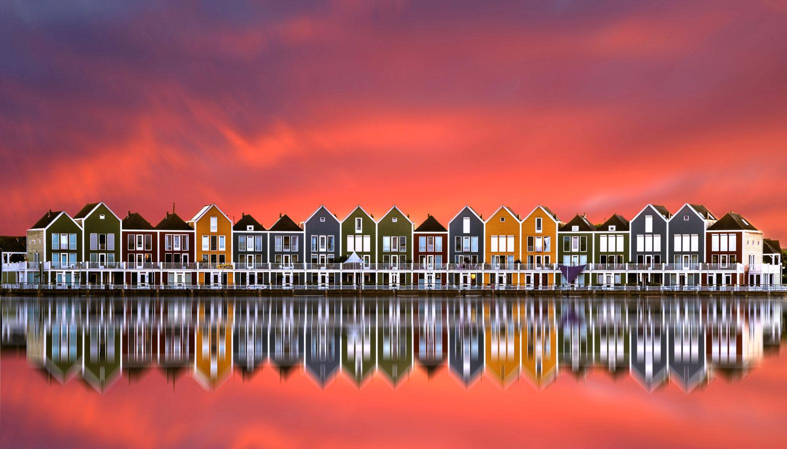 Regenbogenhäuser in Houten, © Kai Diederichs, Architecture and Infrastructure, CEWE Photo Award