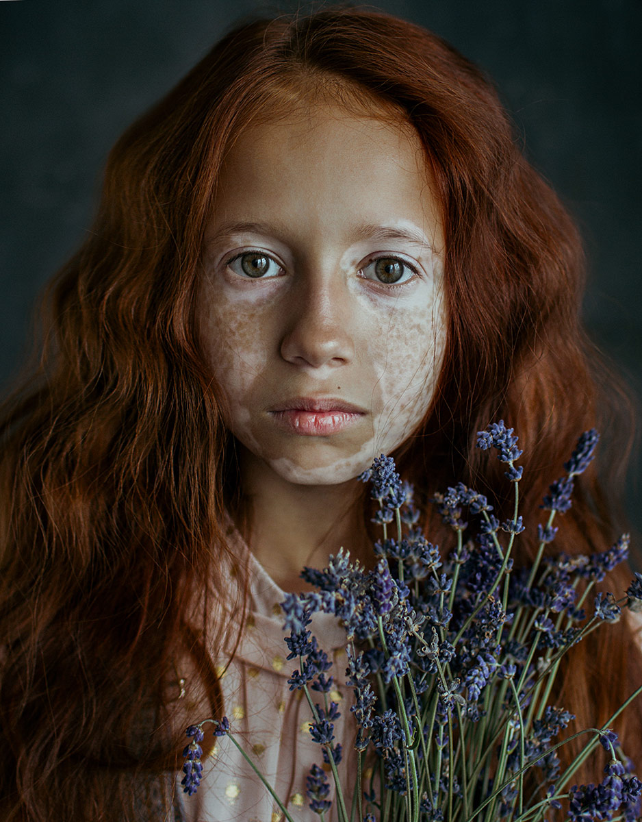 1st Place Portrait, © Irina Bunyatyan, Russian Federation, Girl with lavender, Chromatic Awards - International Color Photography Contest