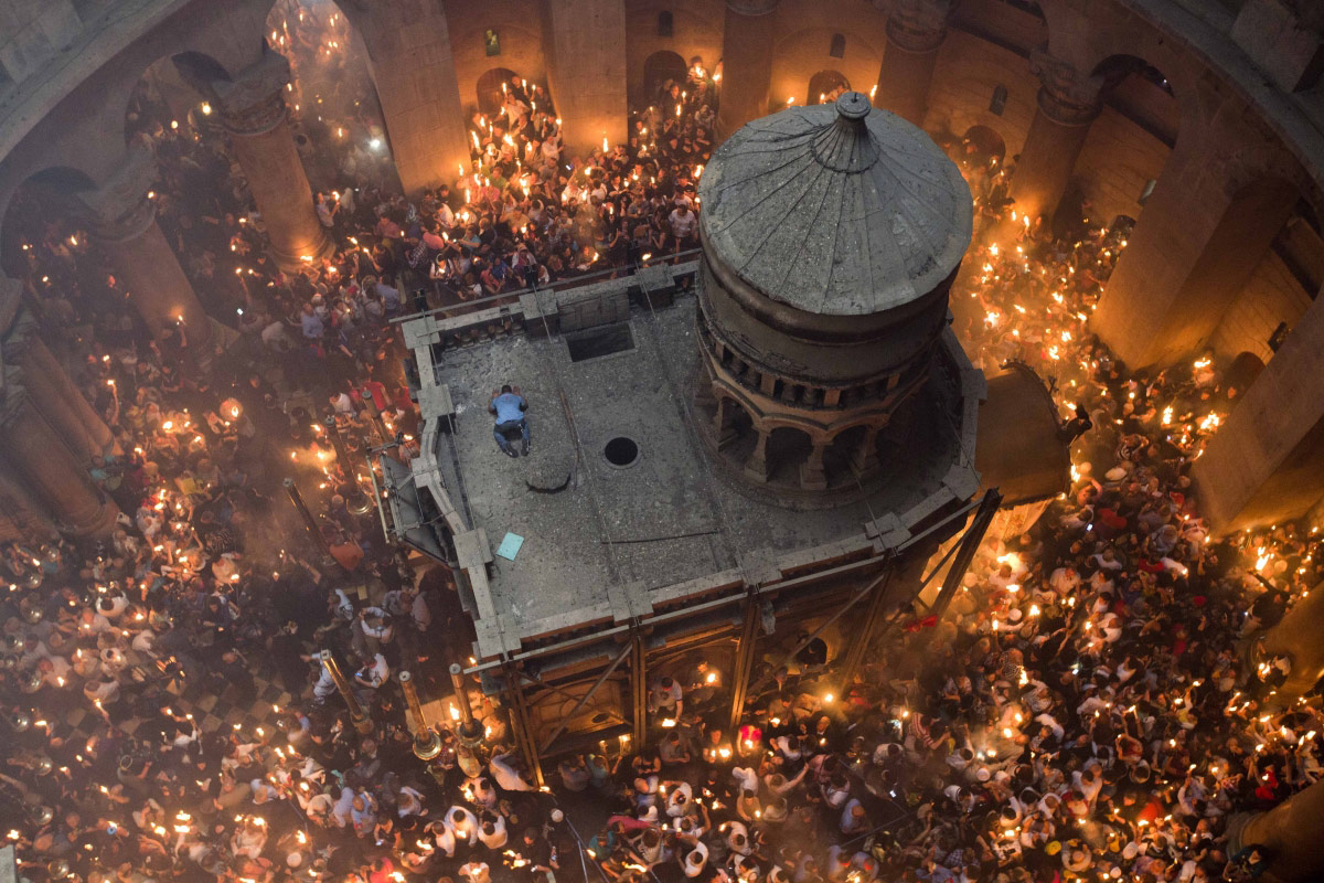 1st Place Travel, © Abir Sultan, Israel, Holy Fire - the Church of the Holy Sepulchre, Chromatic Awards - International Color Photography Contest