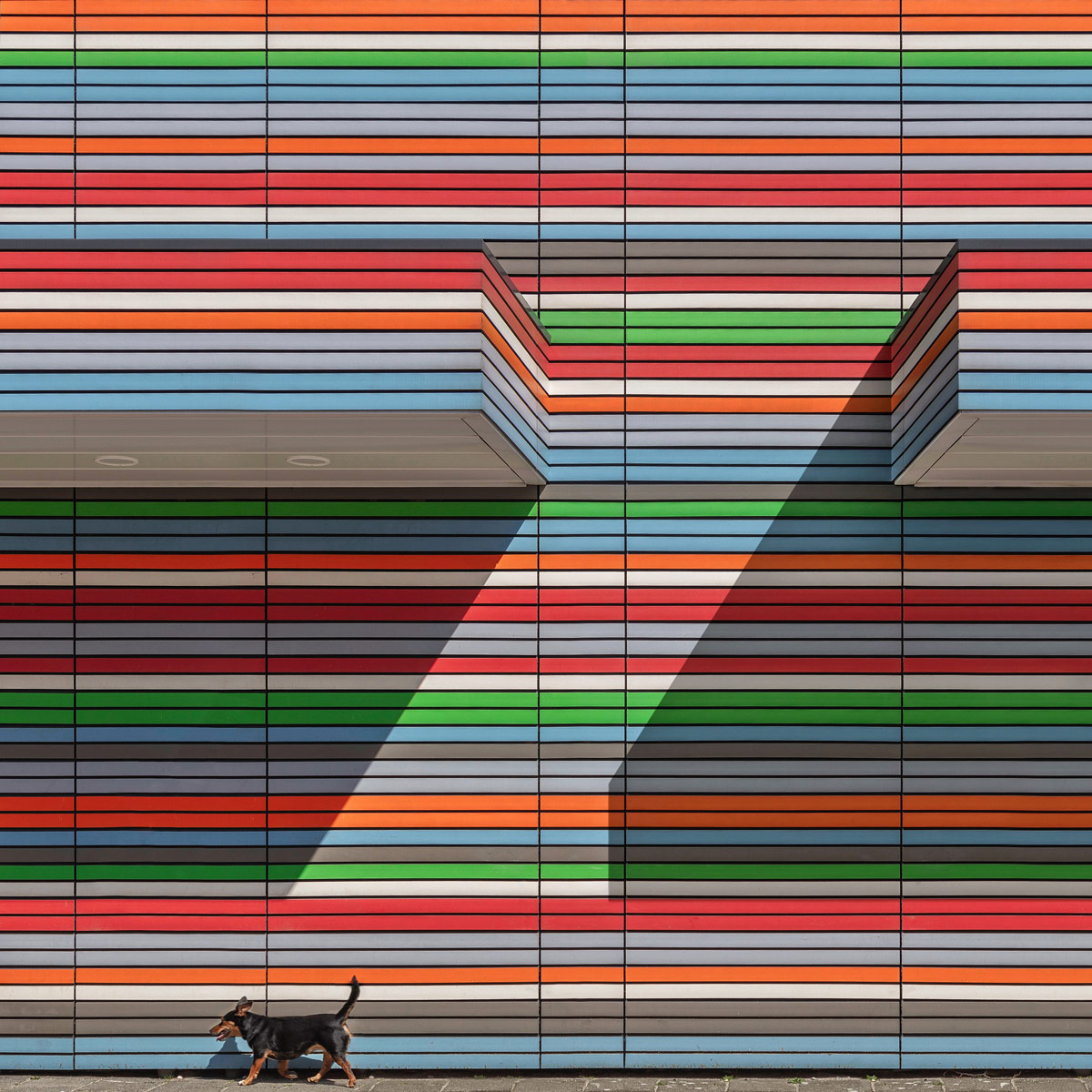 1st Place Abstract, © Paul Brouns, Netherlands, Walking the Line, Chromatic Awards - International Color Photography Contest