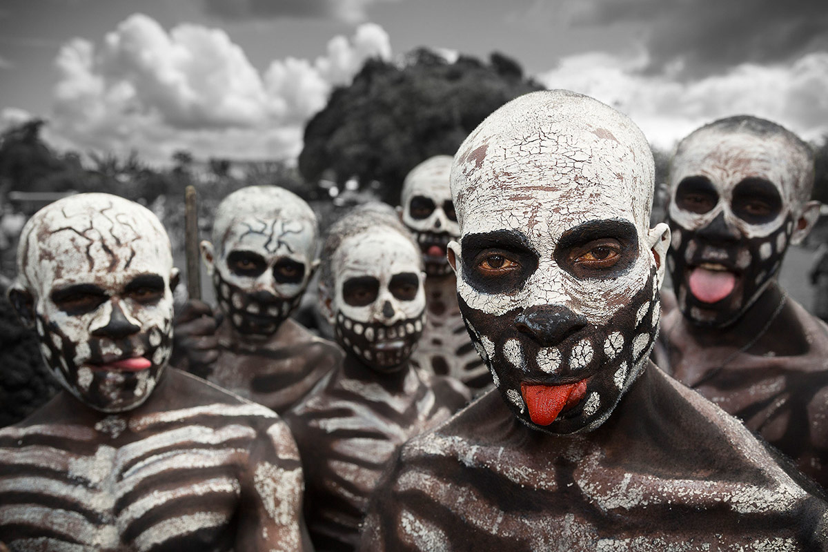 1st Place Culture, © Aliaga Maxime, France, Skeleton men, Chromatic Awards - International Color Photography Contest