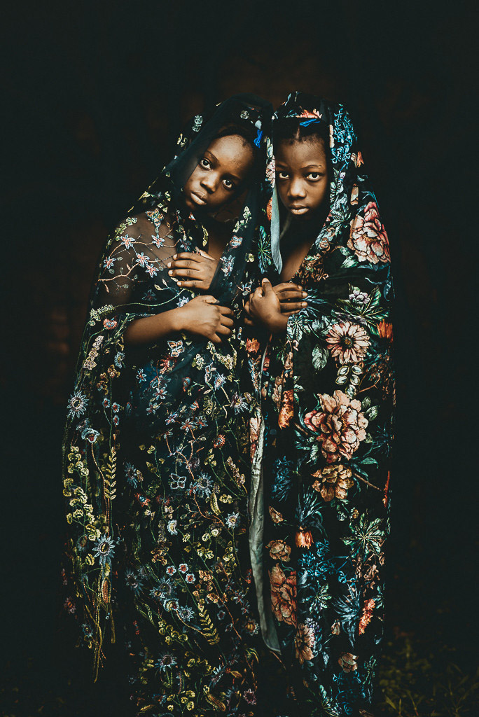"""Sisters Leida and Laëlle"", © Tati Itat, Brazil, May 2018 Winner, CPC Portrait Awards - Photo Competition for Child Portrait Photographers"