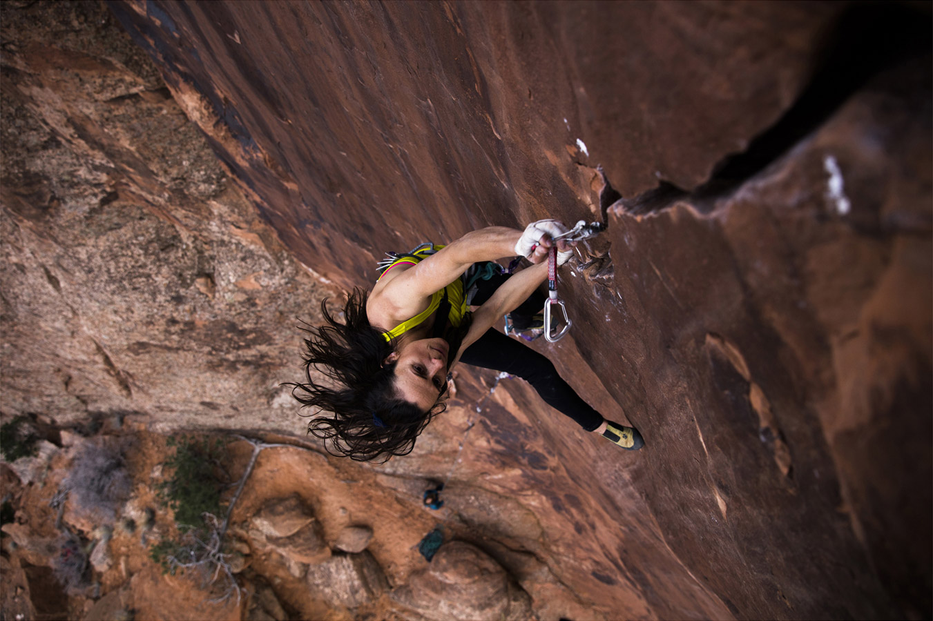 Steph Daves. The Joker 5.12+, © Krystle Wright, CVCEPHOTO Contest