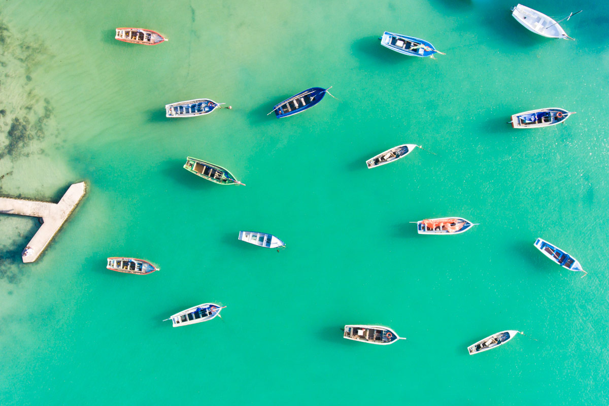 Boats in Cap Malheureux, © Stephane Antoine, Dronestagram Drone Photography Contest