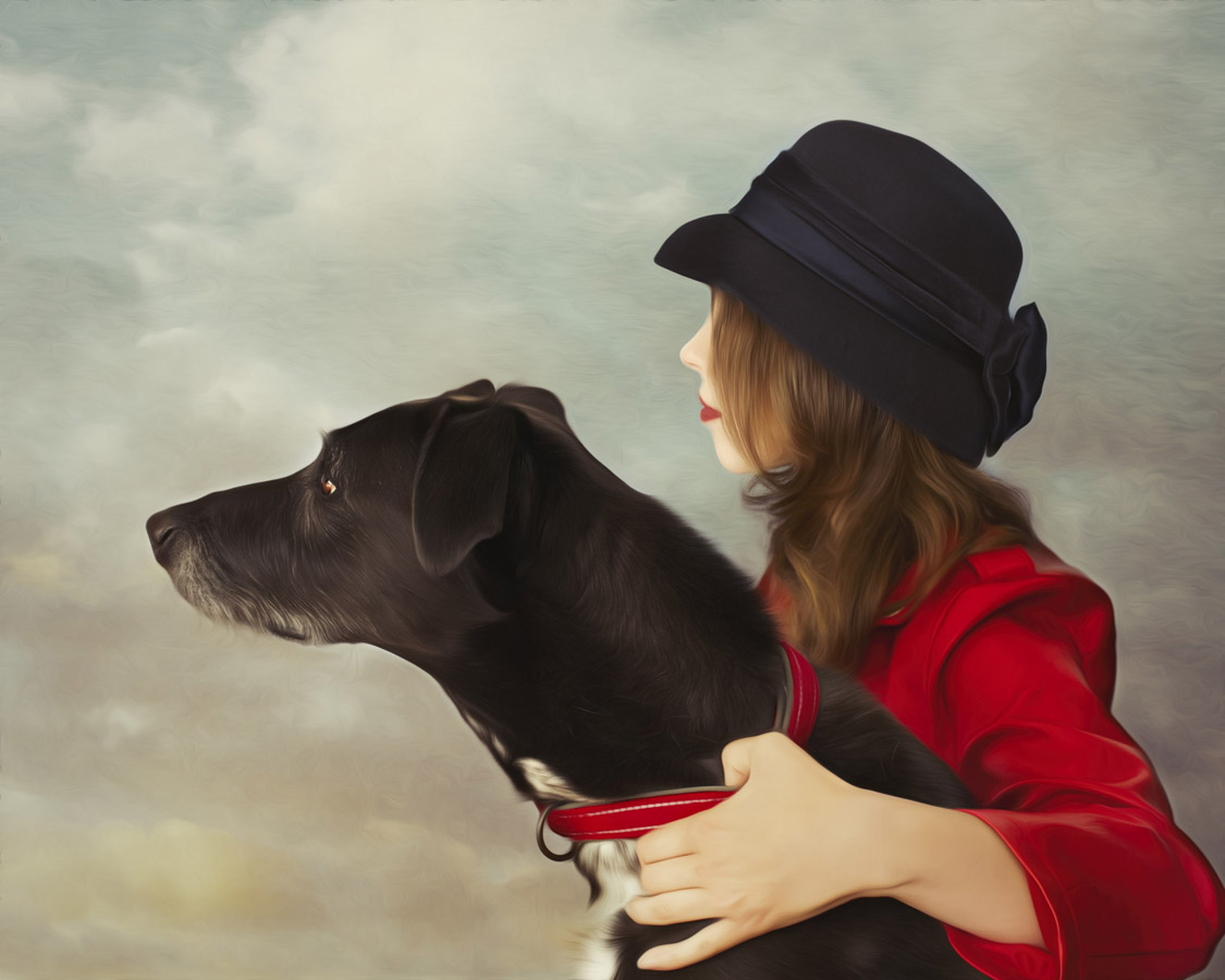 """A Girl And Her Dog"", © Feather Meredith, Shelton, WA, United States, First Place Composite, Rangefinder Fine Art Contest"