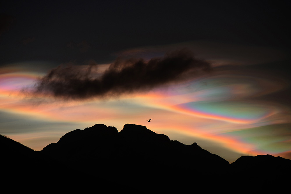 Nacreous clouds (Series), © Bartlomiej Jurecki, 1st Place, Nature: Professional, Fine Art Photography Awards 2017 Winners
