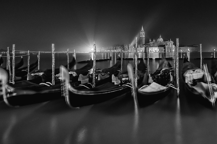 Venetian Nocturne 1, © Sandro Lasco, Honorable Mention, Black & White Art Competition by Fusion Art