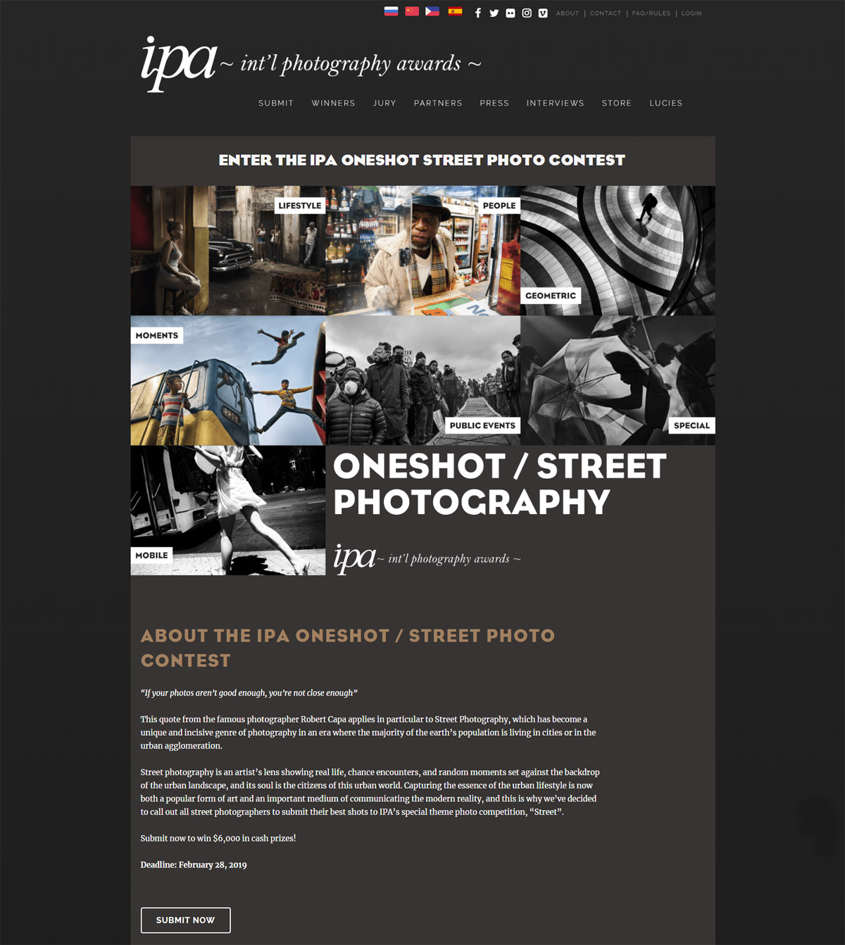 IPA Oneshot Street Photo Contest