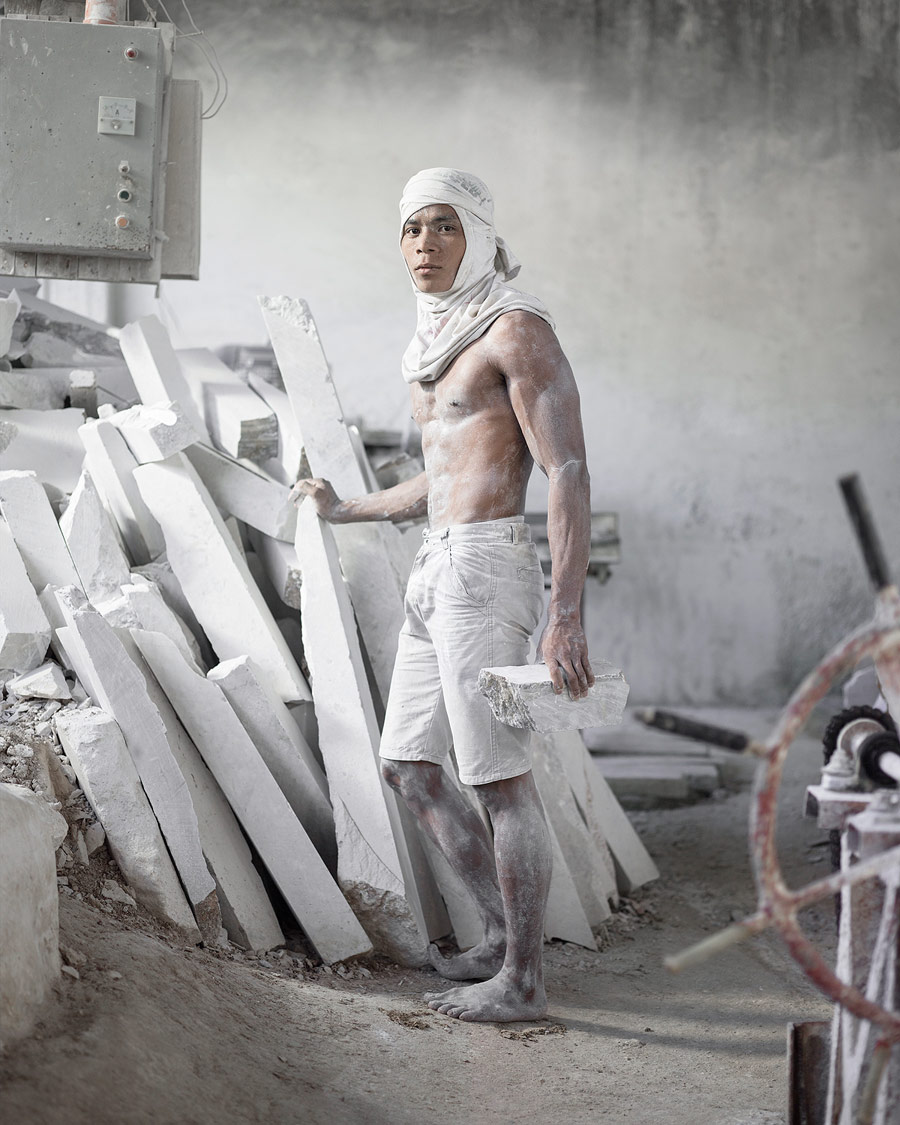Perseus (Portrait of a Young Marble Worker), © Wawi Navarroza, Philippines, 3rd Place Single Image Category, Kuala Lumpur International Photoawards - KLPA