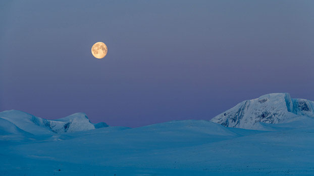 Full Moon at Dovre Mountain Norway, © Øistein Hansen, Best in Show - Digital Art & Photography, Landscapes Art Competition