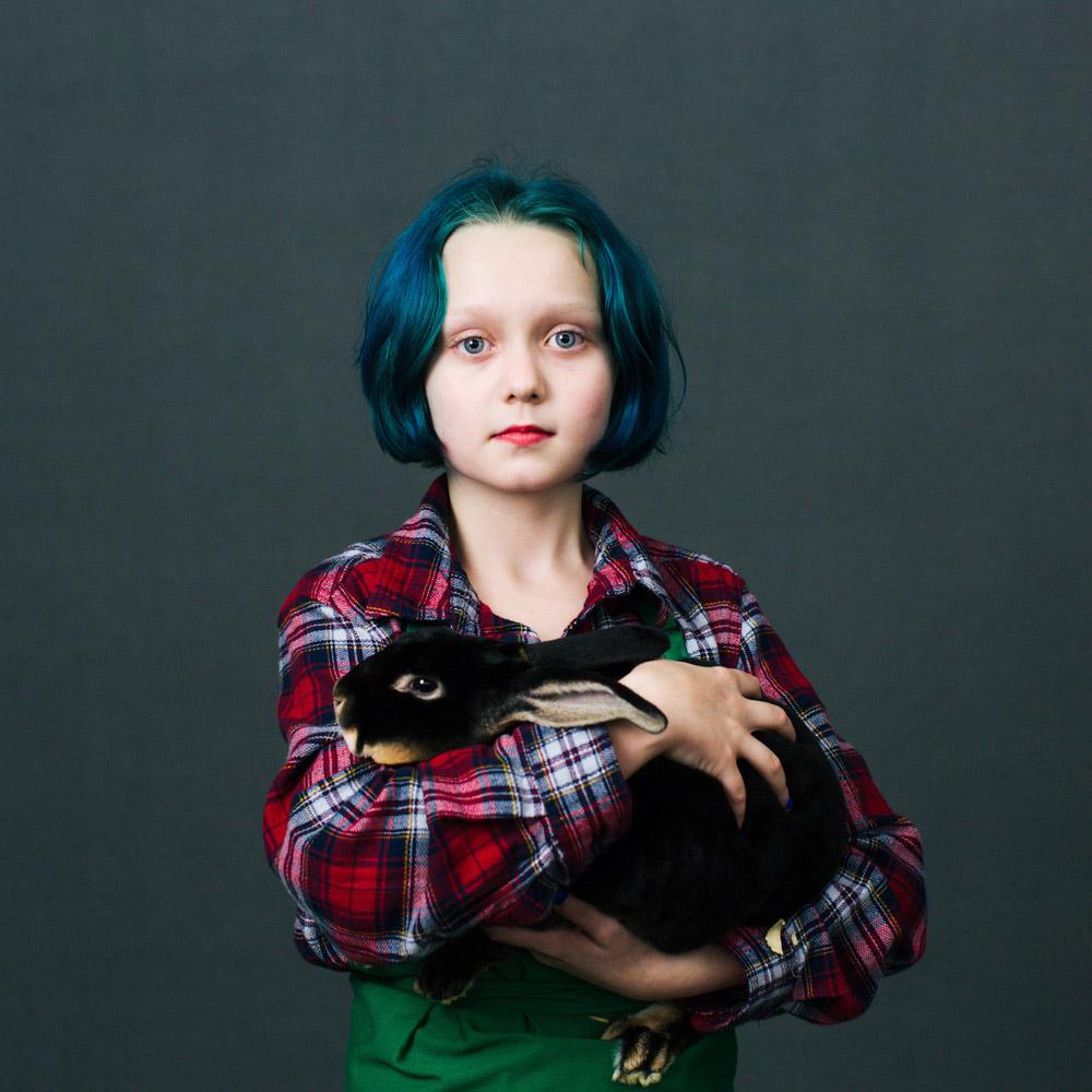 Oh My Rabbits, © Katya Rezvaya, Russian Federation, Finalist, LensCulture Portrait Awards