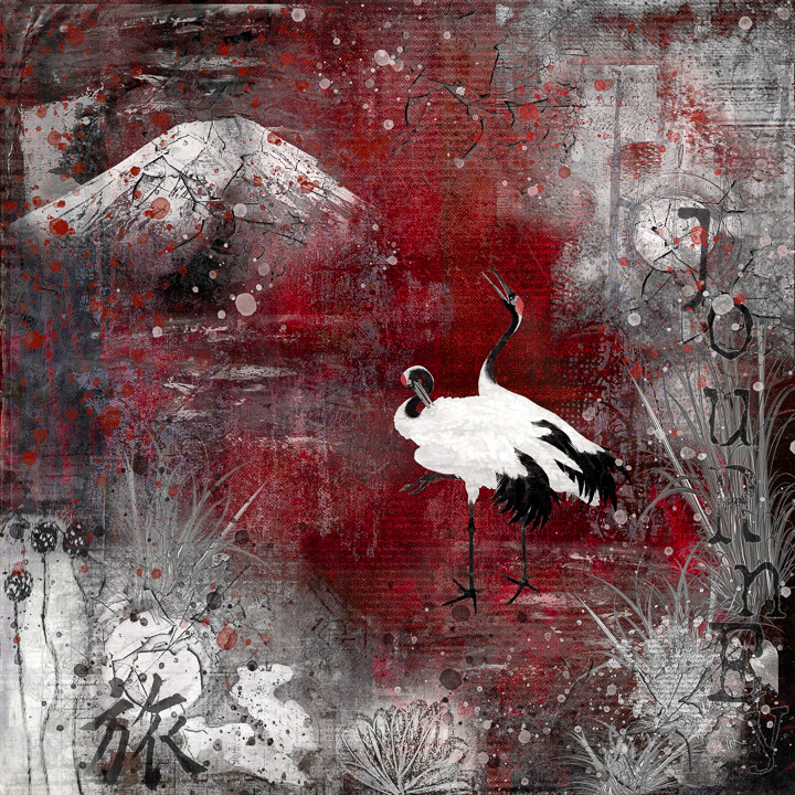 Crane Journey, © Barbara Mierau-Klein, 3rd Place, Animals Online Art Competition by LightSpaceTime