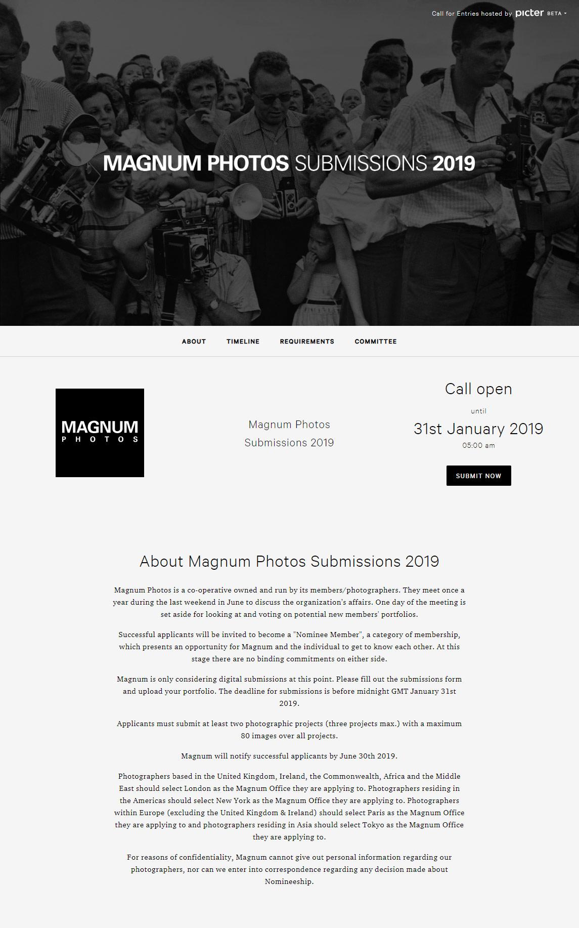 Magnum Photos Submissions