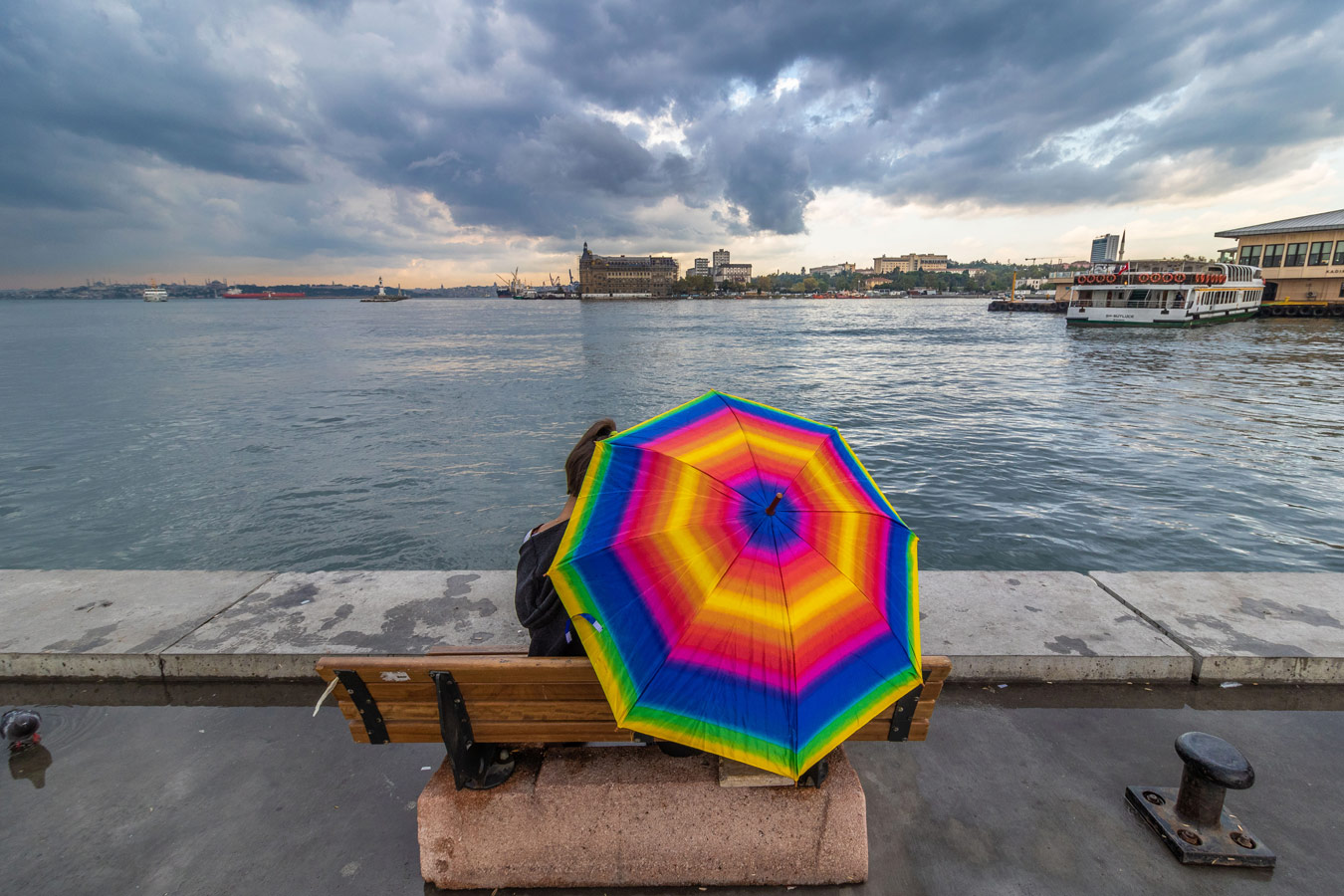 Colorful Umbrella, © Mehran Cheraghchi Bazar, Iran, Filter: Polarizing (PL), Cityscape Photography x Filter Photo Contest - Marumi