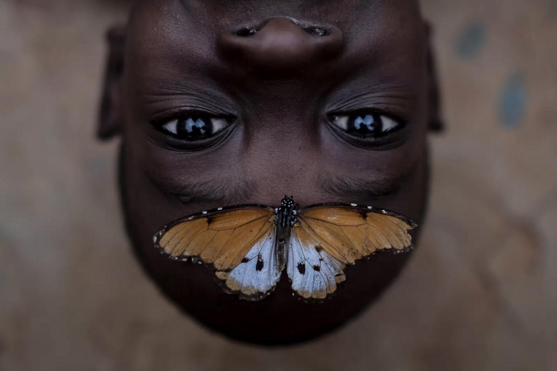 Benson and The Butterfly, © Emilio Aparicio Rodríguez, Global Grand Prize Winner, Metro Photo Challenge