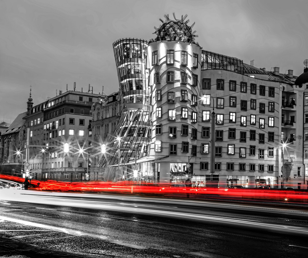 The Dancing House in Prague B/W, © LikaStar Nemsadze, Local Public Voted Winner, Metro Photo Challenge