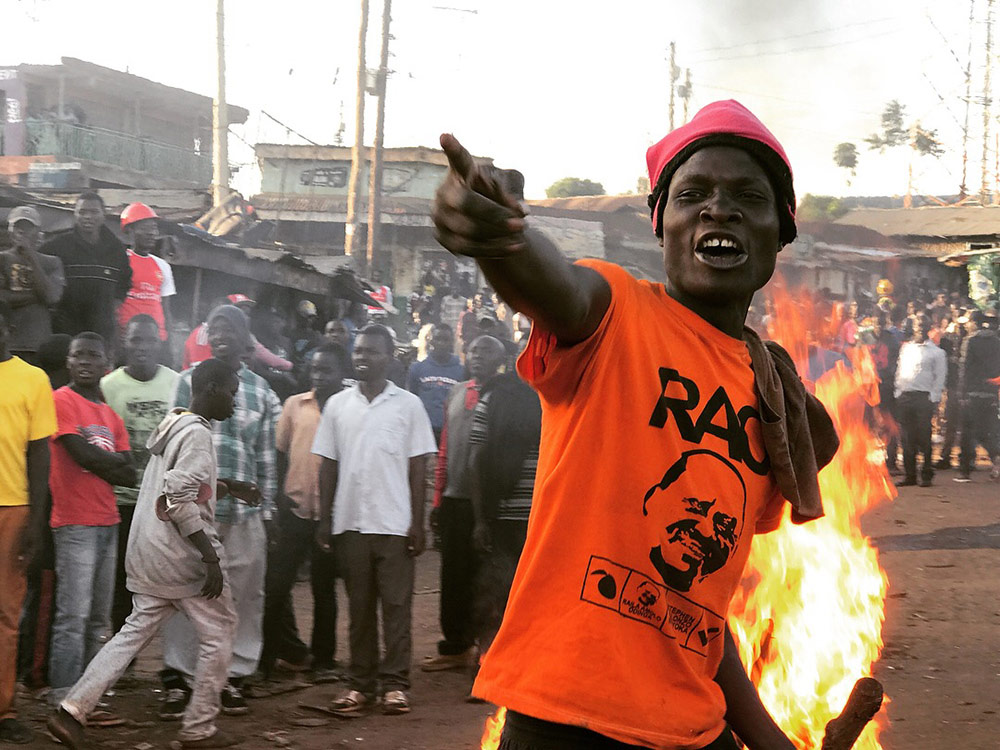 Election Fury, Nairobi, © Neha Wadekar, 1st Place Photo Journalism Winner, Mobile Photography Awards
