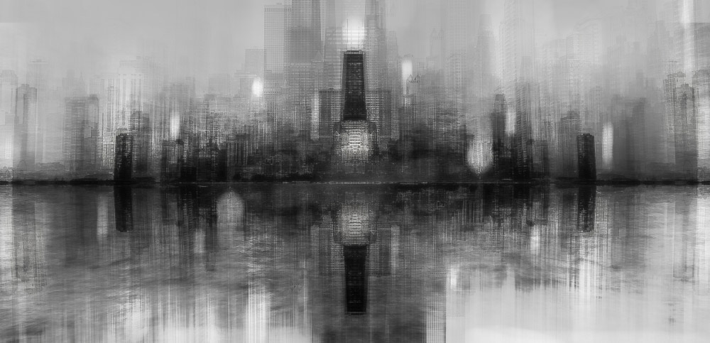 Chicago Skyline, © Carmine Chiriaco (Italy), 1st Place Winner - Abstract Discovery of the Year 2018 (Amateur), Monochrome Photography Awards
